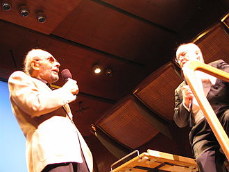 John Williams - Stanley Donen (left) and John Williams at Avery Fisher Hall