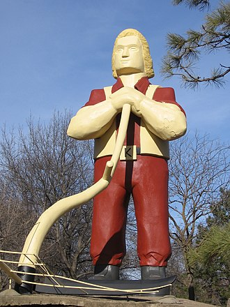 Johnny Kaw - Statue of Johnny Kaw in Manhattan, Kansas