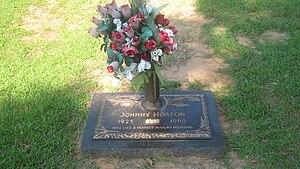 Johnny Horton - Horton's grave marker