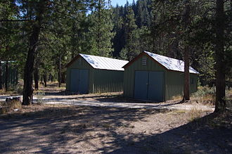 Johnson Creek Airport - Bunk houses are part of the free camping accommodations at the airport