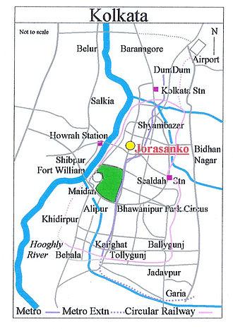 Jorasanko - Image: Jorasanko Map