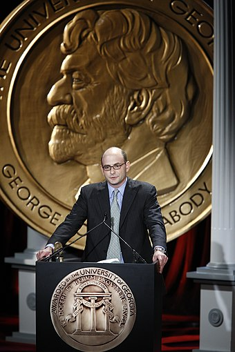 Jordan Hoffner at the 68th Annual Peabody Awards accepting for YouTube Jordan Hoffner at the 68th Annual Peabody Awards for YouTube.jpg