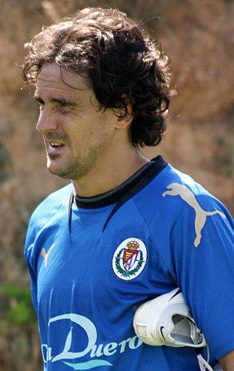 José García Calvo - García Calvo training with Valladolid in 2007