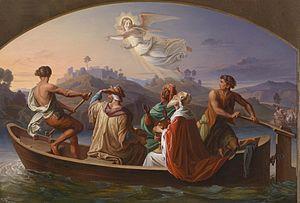 Joseph Binder Die Heiligen Drei Könige am Weg nach Bethlehem 1846.jpg