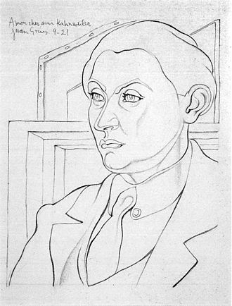 Daniel-Henry Kahnweiler - Pencil drawing of Kahnweiler by Juan Gris, 1921, Musée National d'Art Moderne, Paris