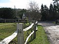 Junction of footpath with country road at Bull Bridge - geograph.org.uk - 1172942.jpg