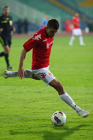 Júnior Moraes - Moraes playing for CSKA Sofia in 2011.