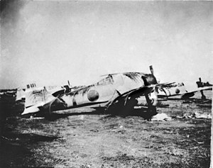 Japanese invasion of Malaya - Mitsubishi A6M Zeros of 22nd Air Flotilla at RAF Kota Bharu after its capture from Allied forces, c. 1942.