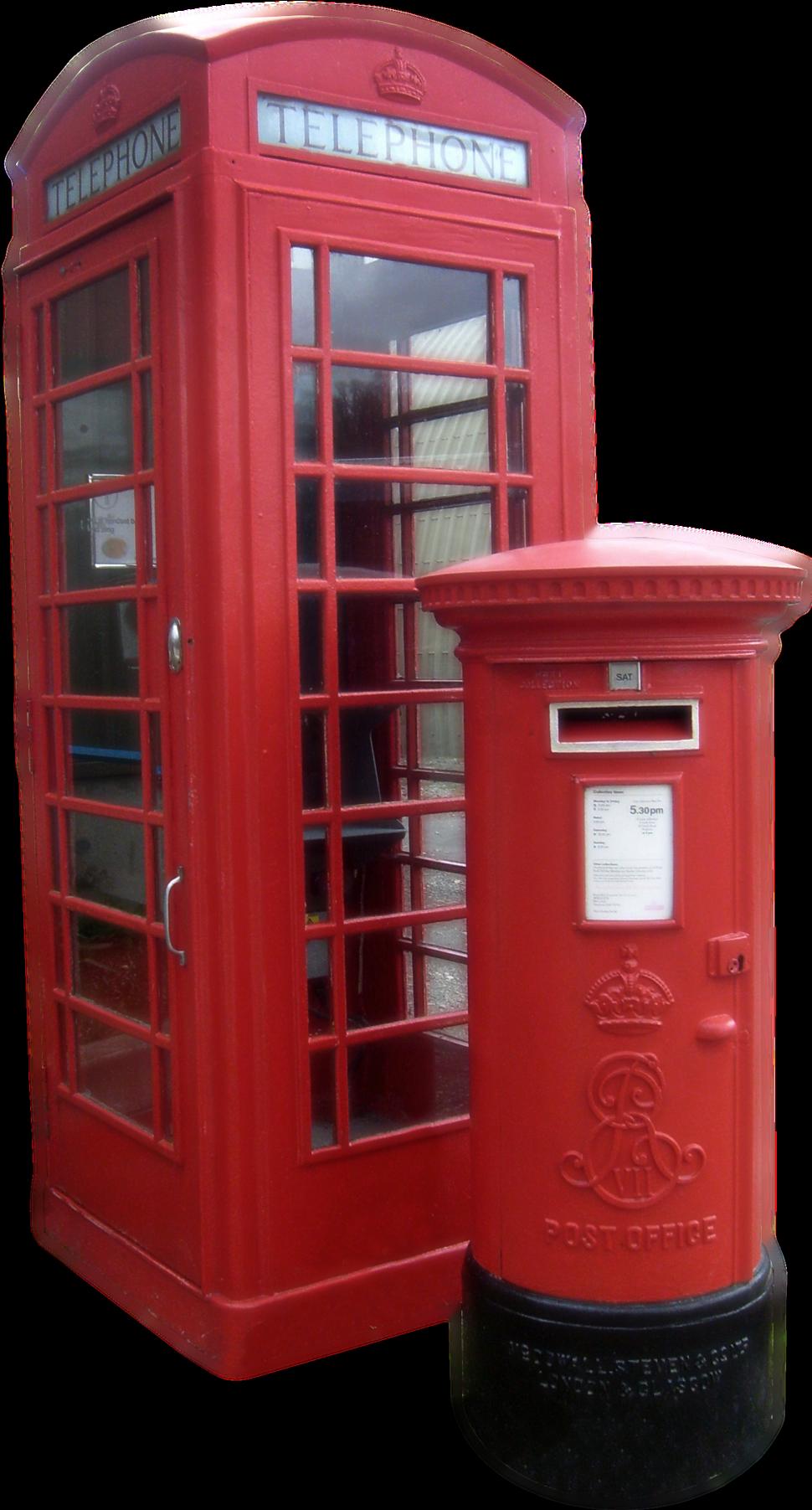 K6 Telephone Box and Edward VII Pillar Box Amberley