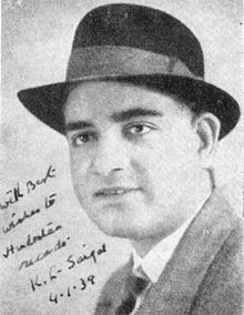 List of songs recorded by K  L  Saigal - Wikipedia