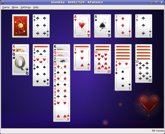 Solitaire - Klondike is a widely known form of card solitaire.