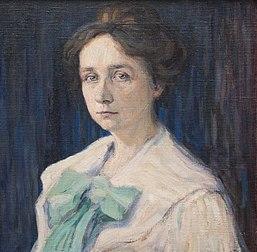 Portrait de Gabriele Münter par Vassily Kandinsky (1905, musée Lenbachhaus de Munich). (définition réelle 3104×3043)