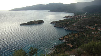 Kardamyli - View of Kardamyli at dusk