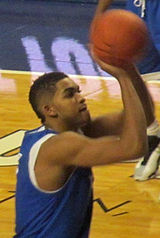 Player shooting the ball