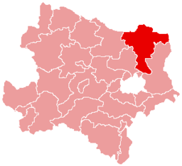Bezirk Mistelbach location map