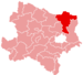 Location of the Mistelbach district in Lower Austria