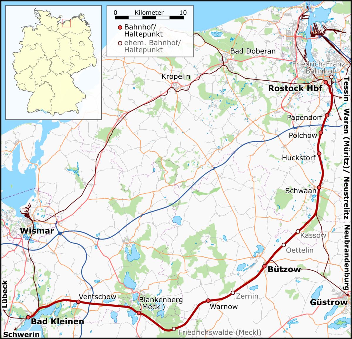 Bad KleinenRostock railway Wikipedia