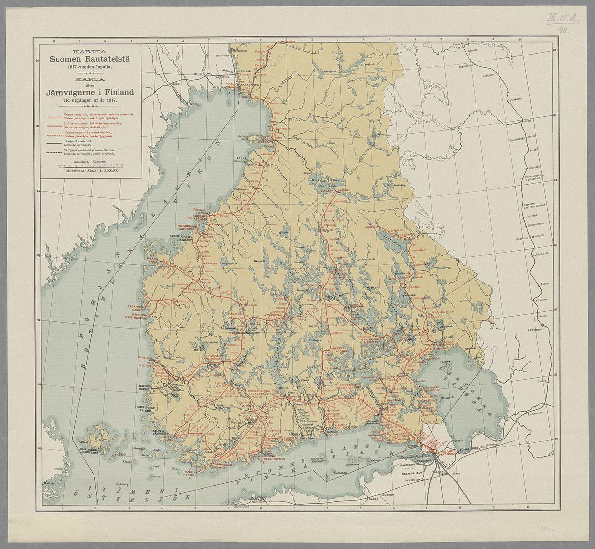 File Kartta Suomen Rautateista Vuoden 1917 Lopulla Jpg Wikimedia