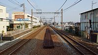 Kasumigaseki Station up end tracks 20160223.JPG