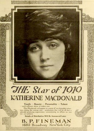Katherine MacDonald - Image: Katherine Mac Donald 1919