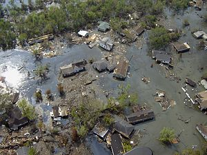 Port Sulphur, Louisiana - Residential section after Katrina