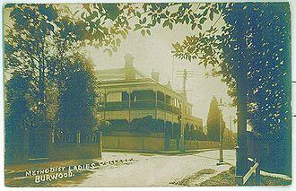 MLC School - Kent House circa 1892
