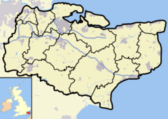 Canterbury is located in Kent