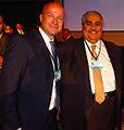 Khalid bin Ahmad Al Khalifa with Thomas Limberger CGI 2014 Clinton Global Initiative.jpg
