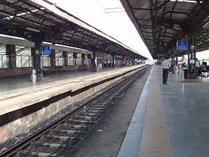 Khandeshwar railway station - Image: Khandeshwar Station