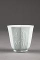 Kinesisk åttasidig kopp gjord i porslin på 1700-talet - Hallwylska museet - 95561.tif