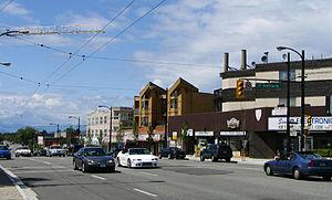 Kingsway (Vancouver) - Kingsway at Dumfries Street, near King Edward Avenue.