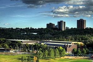 Kinsmen Field House - The Kinsmen Sports Centre in Edmonton's river valley.