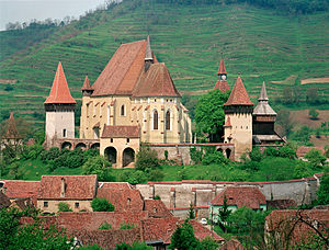 Villages with fortified churches in Transylvania - Biertan village and fortified church