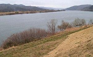 Kitakami River - View of the Kitakami River looking south in Tome, Miyagi