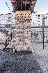 Klagenfurt Villacher Vorstadt Lendhafen Elisabeth Brücke Pfeiler 03122018 5536.jpg