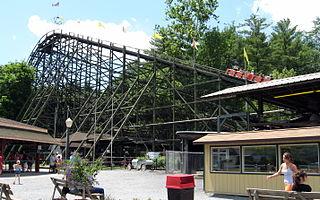 Phoenix (roller coaster) wooden roller coaster located at the Knoebels Amusement Resort in Elysburg, Pennsylvania