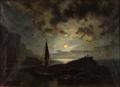 Knud Baade - Klippeparti i månelys - 1868.png