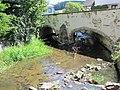 Kolinec - historický most přes Kalný potok.JPG