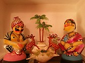 Kondapalli toys at a house in Vijayawada.jpg