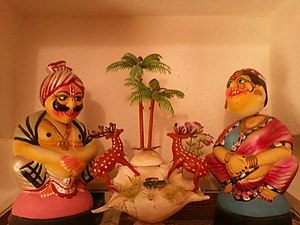 Culture of Andhra Pradesh - Kondapalli toys at a house in Vijayawada
