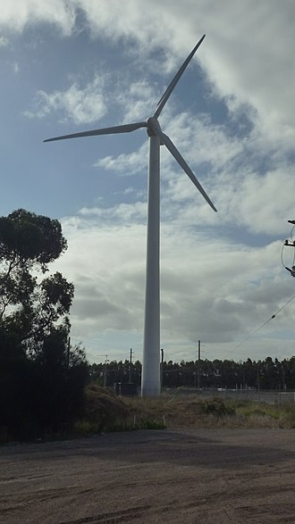 Kooragang - Wind turbine on Kooragang Island