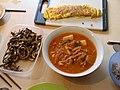 Korean cuisine-Gyeranmari, Kimchi stew, Myeolchi bokkeum.jpg