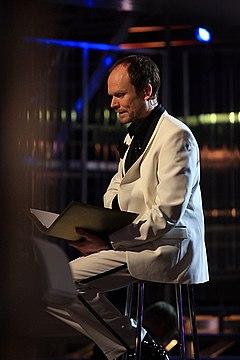 Kristian Luuk vid generalrepetitionen för Melodifestivalen 2008.