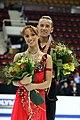 Kristina Gorshkova & Vitali Butikov Podium 2008 Junior Worlds.jpg