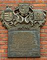Krosno, památní deska zbořené uherské brány.jpg
