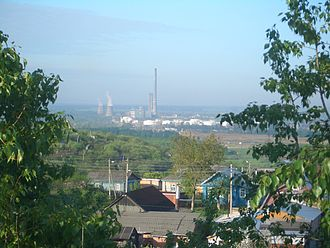 Kstovo - The heat and power plant is located in the industrial area south of the town and can be seen from many apartments