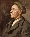Kukán Portrait of a Man Smoking a Cigar.jpg