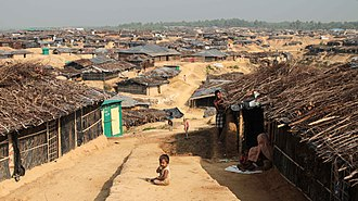 2016 Rohingya persecution in Myanmar - Kutupalong refugee camp in Bangladesh in March 2017