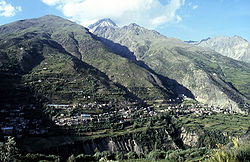 Keylong, viewed from Kardang Monastery