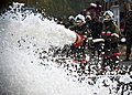 Kyrgyz Republic firefighters extinguish a controlled fire.JPG